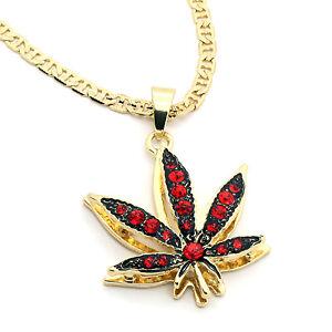 14k gold plated marijuana red cz stone pendant 24 gucci chain la imagen se est cargando oro de 14k plateado marihuana rojo cz piedra aloadofball Gallery