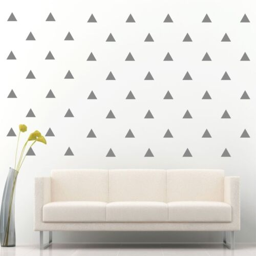 "96 of 3/"" Silver Triangle Removable Peel /& Stick Wall Vinyl Decal Sticker"