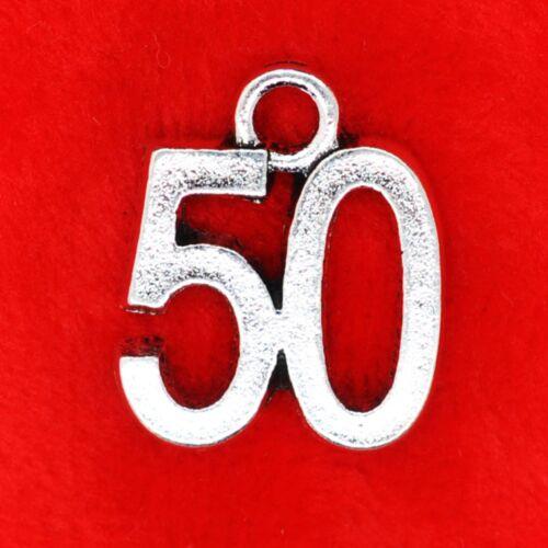 Tibetan Silver Anniversaire Age Numéro Charms 16th 18th 21st 30th 40th 50th 60th