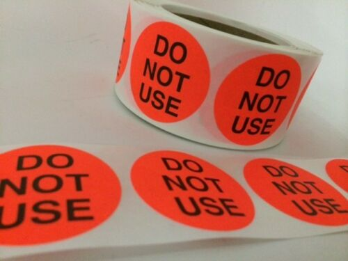 """100 2/"""" DO NOT USE RED NEON STICKERS Labels Stickers NEW DO NOT USE RED LABELS"""