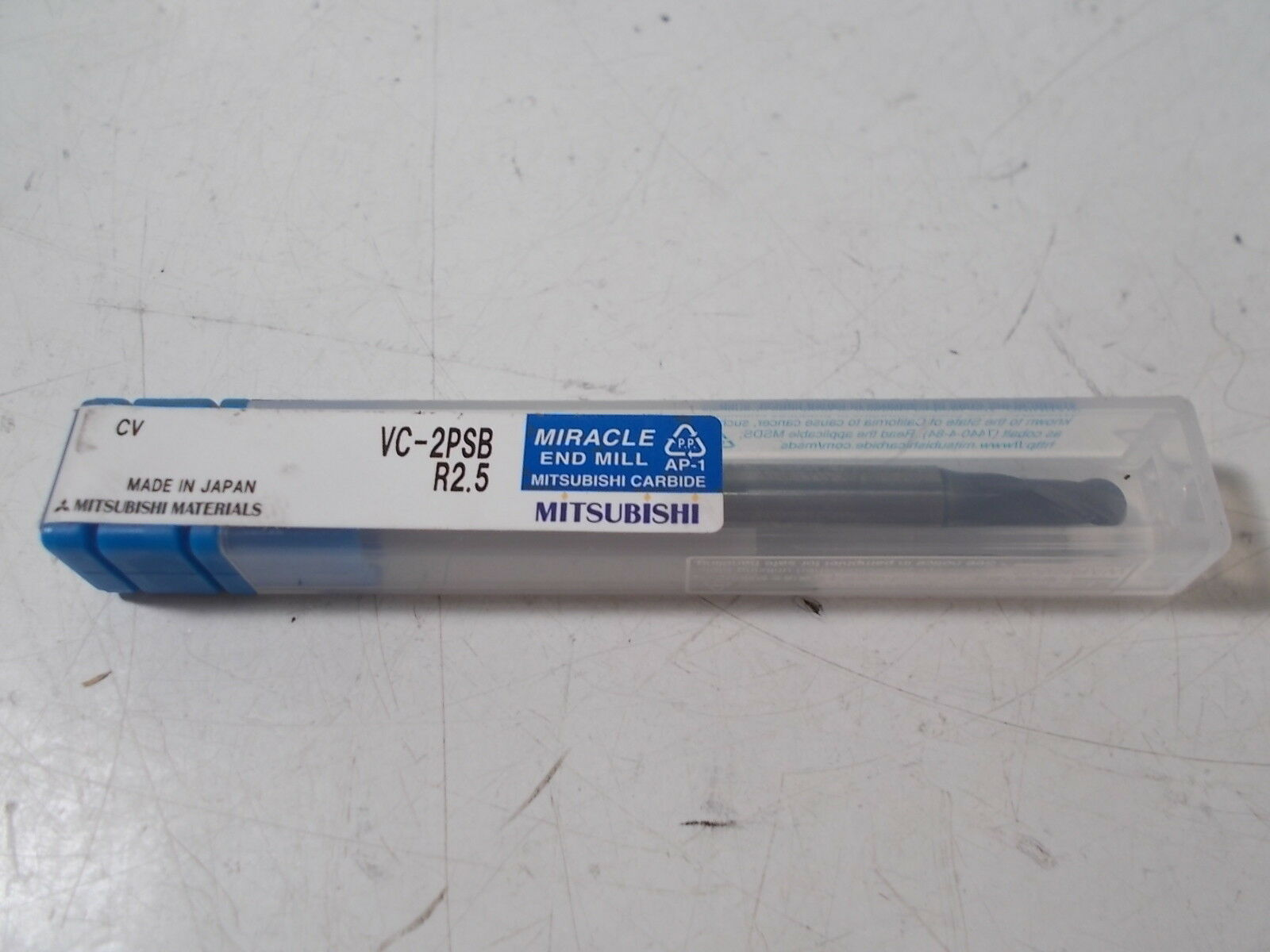 """5//16/"""" SOLID CARBIDE 2 FLUTE BALL SINGLE END MILL BY MITSUBISHI MIRACLE COATING"""