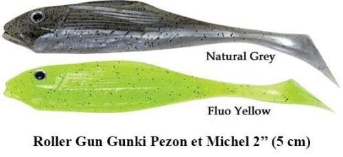LEURRE SOUPLE PEZON et MICHEL GUNKI ROLLER GUN 5 cm