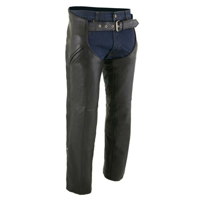 Mens Slash Pocket Chaps with Mesh Liner Milwaukee Leather