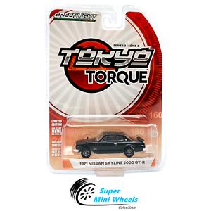 Greenlight-1-64-Tokyo-Torque-Series-3-1971-Nissan-Skyline-2000-GT-R-Black