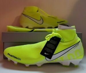 Details about Nike Soccer Cleats PHANTOM VSN ELITE DF FG Size 12 US VoltWhiteVolt AO3262 717