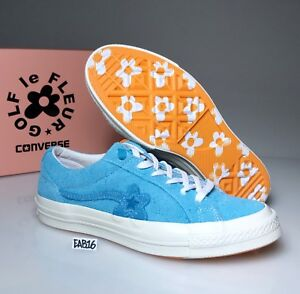 3f5759a0ec2 CONVERSE ONE STAR X GOLF WANG LE FLEUR SUEDE Bachelor Blue Tyler The ...