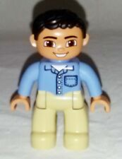 Lego Duplo Figure Boy//Man Grocery Clerk//Pizza Vendor Multi-Color
