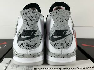 hot sales ce50f f70b4 Image is loading Nike-Air-Jordan-4-White-Cement-Size-10-