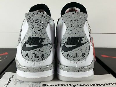 low priced 43b3a 72e14 Nike Air Jordan 4 White Cement Size 10 With Receipt IV Grey OG 2016 840606-