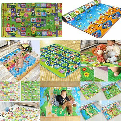 Child Infant Baby Kids Crawling Game Waterproof Floor Play Mat Rug Double-Side !