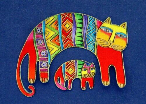 *RARE Laurel Burch//55 Four Iron On CAT Appliques two of each