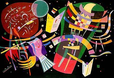 Kandinsky # 02 cm 35x50 Poster Stampa Grafica Printing Digital Fine Art papiarte
