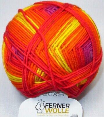 100g Ferner Wolle Merino 120 Color feinstes Farbverlauf superwash 240m