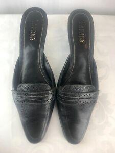 Lauren Ralph Lauren Shoes Size 9.5 Beige Textured Leather