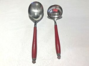 Vintage-2-Piece-OXFORD-HALL-Japan-Stainless-Serving-Spoon-Ladle-Flatware