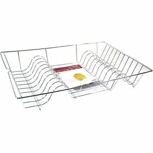 Large-Chrome-Metal-Wire-Dish-Drainer-Rack-Cutlery-Plates-Washing-Up-Tray-Kitchen
