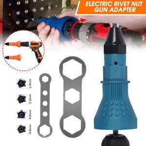 Electric-Rivet-Nut-Gun-Adapter-Cordless-Riveting-Drill-Insert-Wrench-Kit-Tool