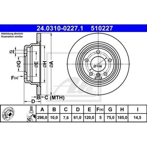 2x Bremsscheibe Bremse NEU ATE 24.0310-0227.1