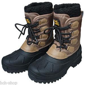Warme Winterstiefel wasserdichte Schneestiefel Gummistiefel Thermo Boots beige