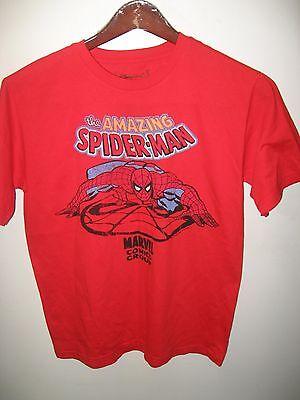 Amazing Spiderman Marvel Comics Group Walt Disney Store Organic Red T Shirt Sm