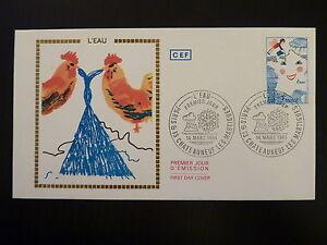 France Premier Jour Fdc Yvert 2125 L Eau 1,40f Paris & Chateauneuf Les M 1981 Techniques Modernes