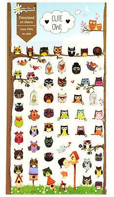 1 sheet animals bird Owl Costume Show Korean Craft scrapbooking filofax stickers