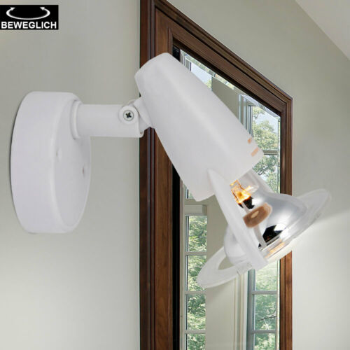 Luxus Wand Leuchte Spot Strahler Schlaf Gäste Zimmer Lese Lampe weiß schwenkbar