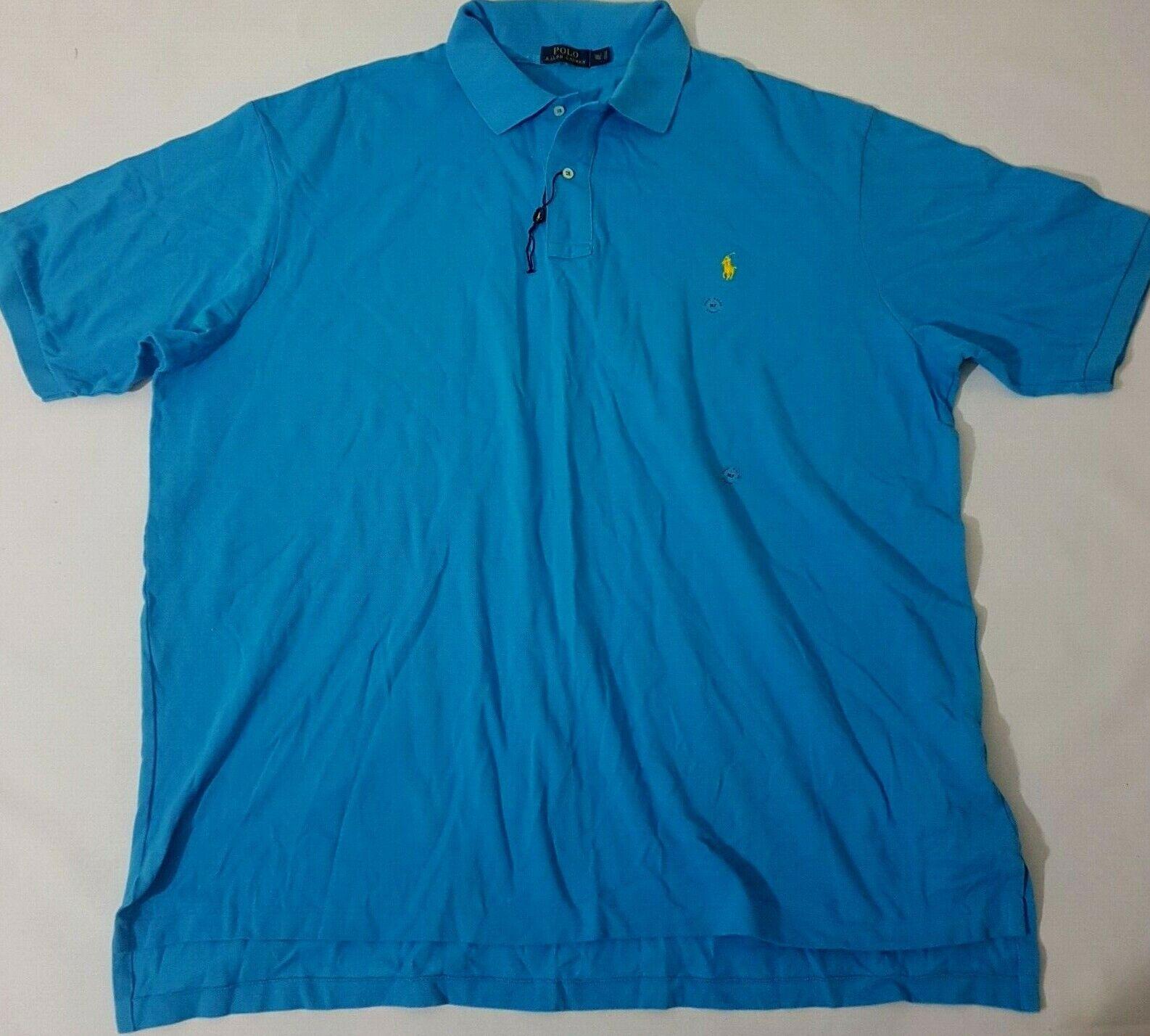 Ralph Lauren Polo Camiseta  Clásico de malla de manga corta azul XXXL 3XL de alto grande XXXXL T  clásico atemporal