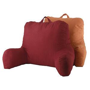 bed rest pillow back support arm stable tv reading backrest cushion garnet ebay. Black Bedroom Furniture Sets. Home Design Ideas