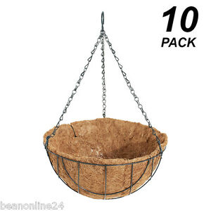 10-Pack-x-30cm-Hanging-Baskets-Garden-Planters-with-Liner-amp-Hang-Chain