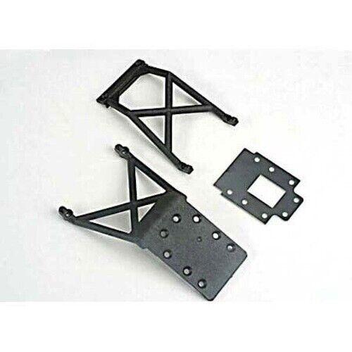 Traxxas TRA4133 Front /& Rear Skid-Plates Nitro Stampede//Nitro Rustler