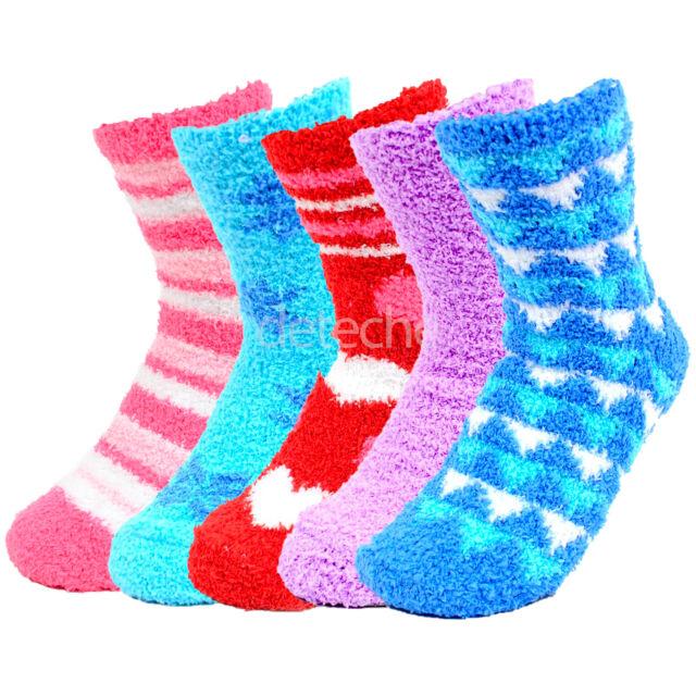 4 Pairs Womens Wool Socks Thick Socks Winter Warm Cozy Socks Gifts C-3