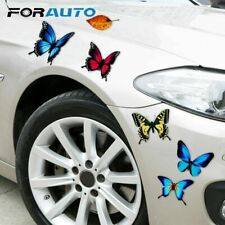 Lovely Butterfly Leaves Cartoon Stickers Cover Scratch Sticker Car Styling Decal