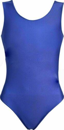 Girls Nylon Sleeveless Leotard Kids Bodysuit Shiny Nylon Lycra Gymnastics,Swim
