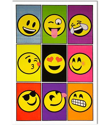 EMOJIS - BLACKLIGHT POSTER - 23x35 FLOCKED SMILEY FACES - 6507