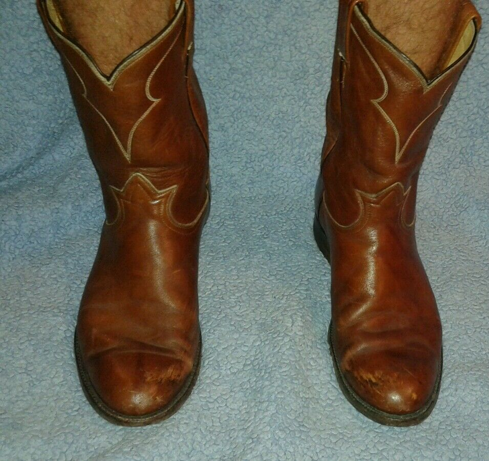 Tony Lama Brown Cowboy Boots  Sz 10 D