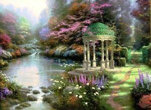 Thomas-Kinkade-The-Garden-of-Prayer-12x16-Classic-Edition-Framed-Canvas