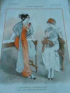 L-039-epouse-prevoyante-Plus-de-cafe-ca-empeche-mon-mari-dormir-Print-Art-Deco-1911