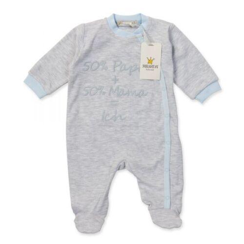"gris-bleu taille 56-68 50/% MAMAN = MOI/"" Milarda Body/"" 50/% papa"
