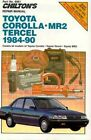 Toyota Corolla, Tercel and MR2 1984-90 Repair Manual by Chilton Automotive Books, The Nichols/Chilton (Paperback, 1991)