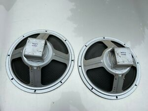 Pair-Vintage-Cleveland-Alnico-12-inch-1962-Guitar-Speakers-8-ohm-TESTED-WORKING