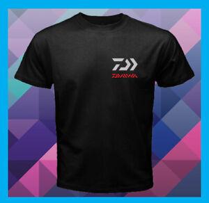 New Daiwa Fishing Logo Men's Black T-shirt Size S to 3XL