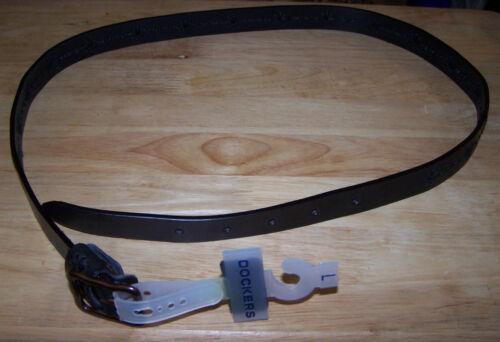 GENUINE LEATHER NWT! Women/'s BLACK Leather Belt DOCKERS WOMEN Size L