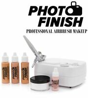 Photo Finish Professional Airbrush Makeup Kit- System-light -medium Or Tan