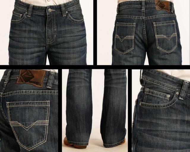 28x32 Rock /& Roll Denim Mens Double Barrel Relaxed Fit Medium Wash Jean