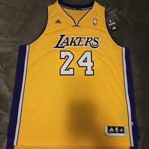 ????*RARE* NEW Adidas NBA Los Angeles Lakers Kobe Bryant Gold Jersey ...