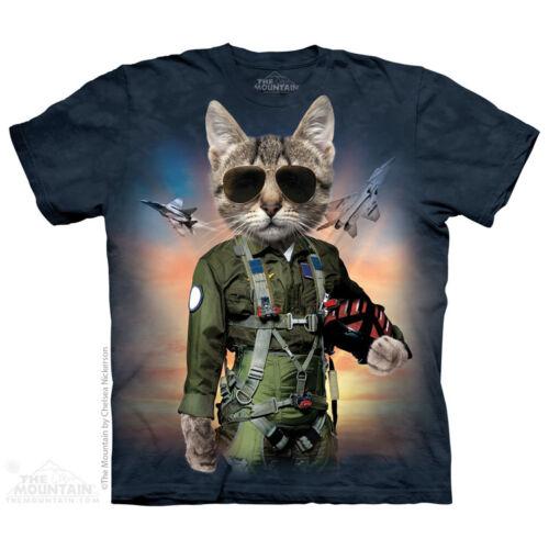 The Mountain Tom Gattino Gatto Militare Aeronautica T-Shirt Maglietta S-5XL