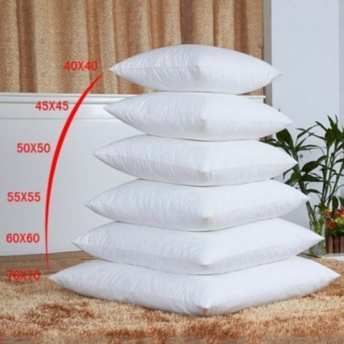 "White Pillow Core Cushion Pads Hollowfibre Inserts Fillers Inners Size 14/""-28/'/'"