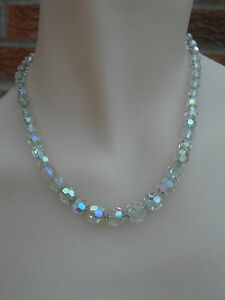 Vintage 1950s Sparkly Aurora Borealis Single Strand Necklace #SAB5