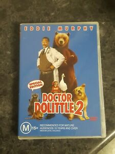 DOCTOR-DOLITTLE-2-comedy-2001-DVD-Eddie-Murphy-dr-do-little-R4-free-postage